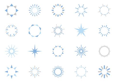 光閃閃的裝飾圖標 04C