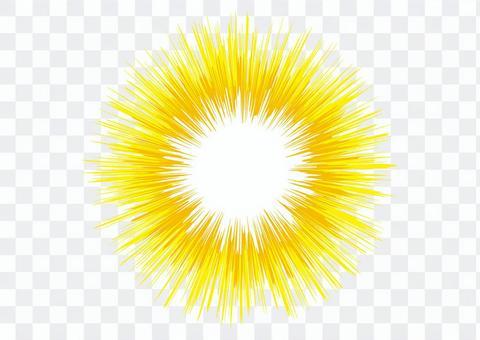 背景_集中線_黄色1