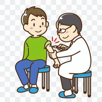 接種疫苗的人