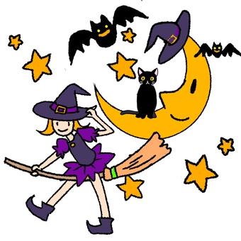 萬聖節套裝新月女巫