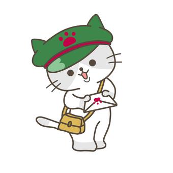 Postman cat illustration