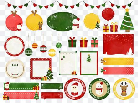 クリスマスのフレームセット1