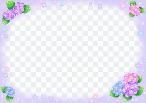 繡球花圖紫色框架