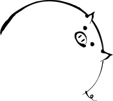 豬毛筆劃留言框