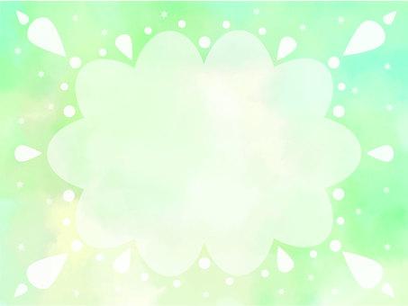 水彩框架雲2