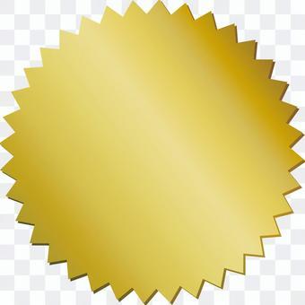 鋸齒狀的鋸齒金金標籤標籤背景框架