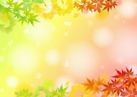 季節性放鬆的秋葉幀1
