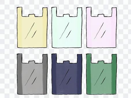 各種塑料購物袋