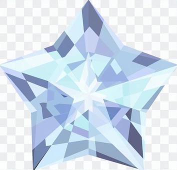 星星鑽石 - 淺藍色