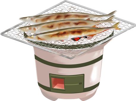 七輪秋刀魚 秋味