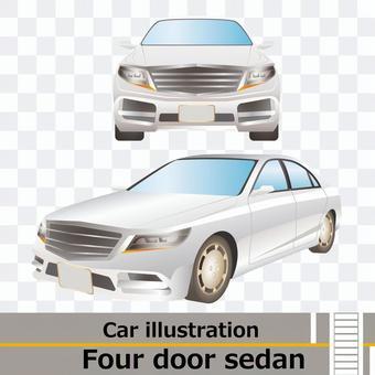 車正面と側面セット 4ドアセダン