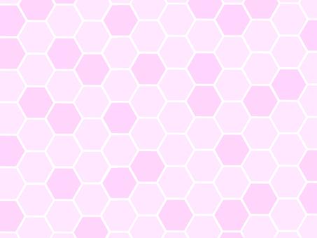 蜂窩蜂巢背景粉紅色