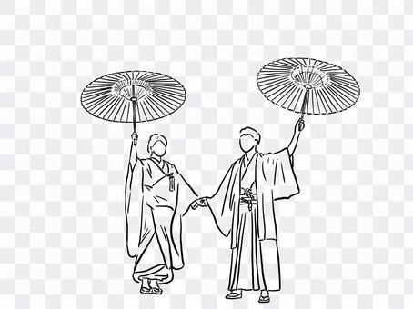 婚禮和服圖