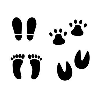腳印的插圖