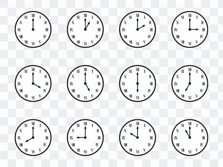 簡單掛鐘(羅馬數字)