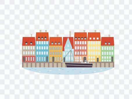 Scandinavian cityscape
