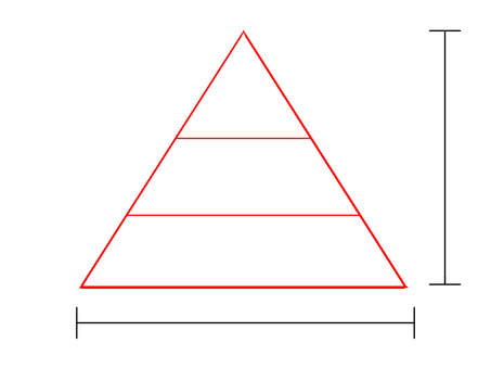 Pyramid type equilateral triangle material figure