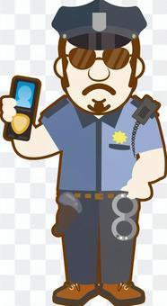 警察手帳を持つ外国の警官