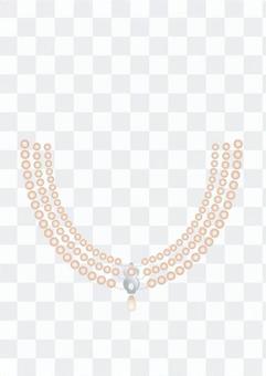 珍珠三重項鍊