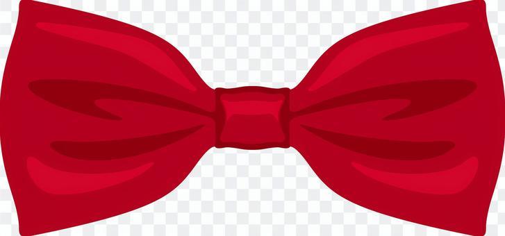 領結領結紅色