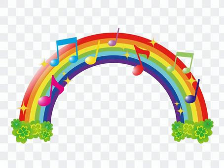 Colorful notes and rainbow