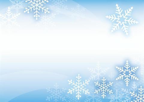 冬 雪 背景 青