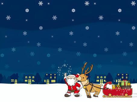 Santa and the Snowy Night