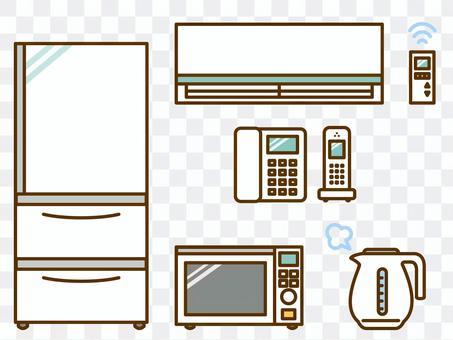 家電(冰箱,空調,範圍,電話)