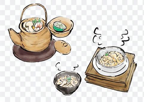 松茸蘑菇盤