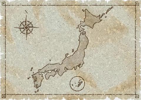 日本地圖舊地圖樣式