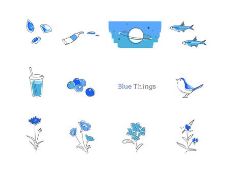 Various blue sets