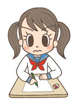 Female junior high school student Emi test