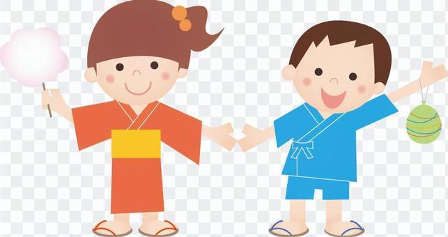 20160721夏天兒童的浴衣