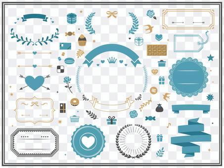 白色情人節裝飾和框架設計