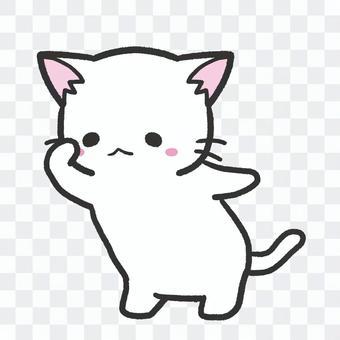 遠くを探す白猫