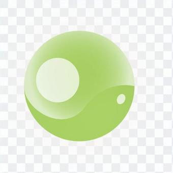 Round crystal - green