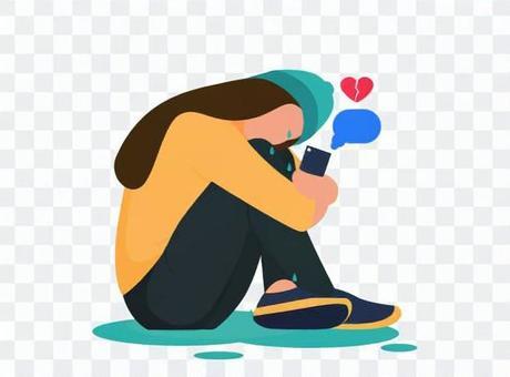 女人哭與破碎的心