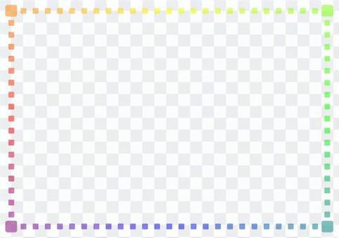 "Frame ""Rainbow colored cube"" -2"