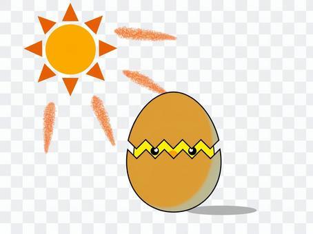 曬傷的雞蛋