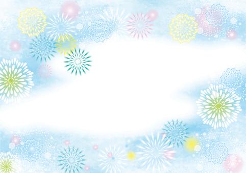 水彩簡單的煙花背景