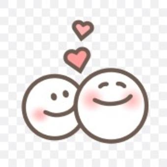 面對微笑微笑好朋友心臟