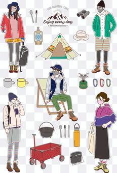 各種營地插圖
