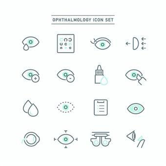 眼科圖標集