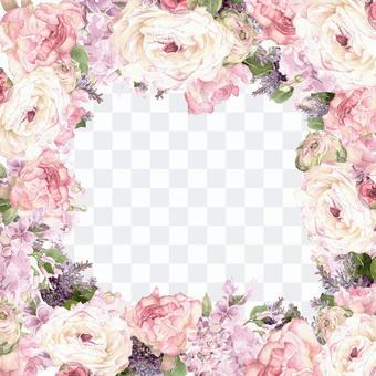 白色Ranankuras花框架