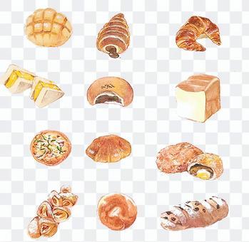 蓬鬆的新鮮出爐的麵包圖