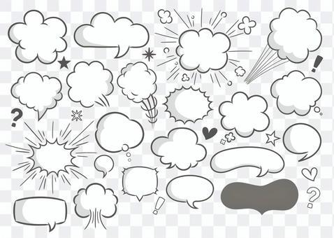 漫畫氣球套裝(單色Ver)