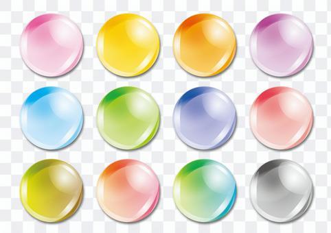 ボタン03 イラスト素材