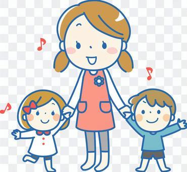 Homemaker, girls and boys