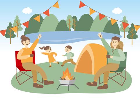 家庭家庭露營帳篷