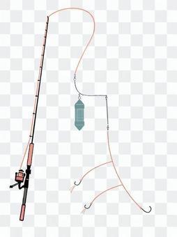 サビキ釣りの仕掛け図